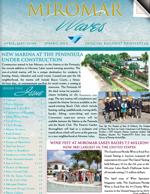 Miromar Waves - Spring 2013 | Luxury Florida Homes, Luxury Florida Condos, Luxury Naples Homes