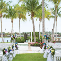 Florida Beach Wedding Ceremony at Miromar Lakes