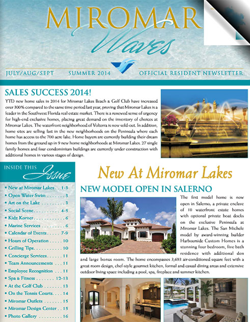 Miromar Waves - Summer 2014 | Luxury Florida Homes, Luxury Florida Condos, Luxury Naples Homes
