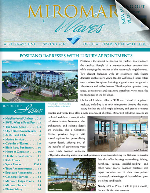 Miromar Waves - Spring 2016 | Luxury Florida Homes, Luxury Florida Condos, Luxury Naples Homes