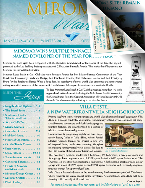 Miromar Waves - Winter 2016 | Luxury Florida Homes, Luxury Florida Condos, Luxury Naples Homes