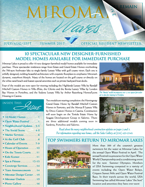 Miromar Waves - Summer 2017 | Luxury Florida Homes, Luxury Florida Condos, Luxury Naples Homes